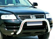 FIT VOLKSWAGEN TOUAREG 2003-2006 BULL BAR NUDGE A-BAR LOW STAINLESS STEEL 76mm