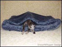 Kuschelhöhle Schlafsack für  Windhund & Co. - Microfaser/Waffel - °Das Original°