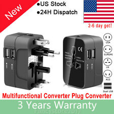 Universal Travel Adapter Worldwide All in One Adapter Converter with 2 USB Ports