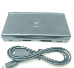 Nintendo DS Lite Black Onyx Handheld Game Console Loose Top & Hinge Chip [6983]
