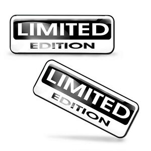 2 x Limited Edition Stickers Domed Decal Logo Car Styling Moto Emblem Badge KS89