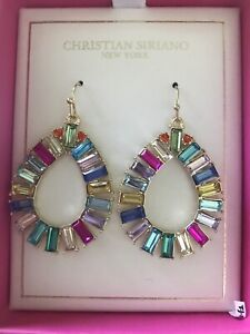 christian siriano Earrings, Multicolored, Stoned, Dangling Earrings
