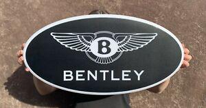 BENTLEY LED ILLUMINATED LIGHT UP GARAGE SIGN PETROL GAS AUTOMOBILIA CONTINENTAL