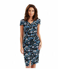 Women's Cotton Blend Crew Neck Wiggle, Pencil Knee Length Dresses