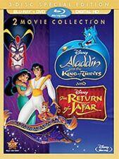 Aladdin 2 II & III 3 King of Thieves Return of Jafar BLURAY DVD