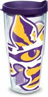LSU Tigers Tumbler Tervis 24 ounce NCAA Clear w/ Team Color Wrap Purple Lid