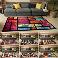 Large Thick Hand Carved Multi Coloured Rug Runner Mat Living Room Bedroom Carpet