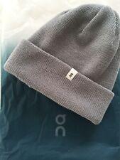 On Running Merino Wool Beanie Hat Grey BNWT Winter Running Cycling RRP £45