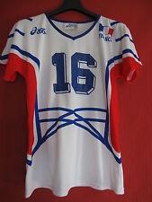 Maillot Equipe de France Volley Ball Femme Asics Porté n° 16 Vintage - XL