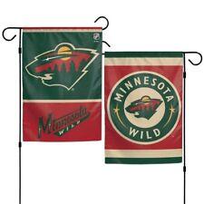 "Brand New  NHL Minnesota Wild  2 Sided 12"" X 18"" Garden Flag Wincraft"