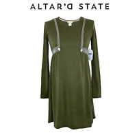 Altar'd State Long Sleeve Embroidered Dress NWT Size S