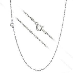 Italian 925 Sterling Silver 1.5mm Twisted Singapore Chain Necklace ALL SIZES