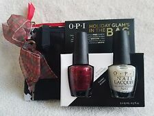 O.P.I.***HOLIDAY GLAM'S IN THE BAG***(Bogota Blackberry & Funny Bunny)+FREE Bags
