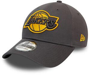 Los Angeles Lakers New Era 3930 NBA Grey Pop Stretch Fit Cap