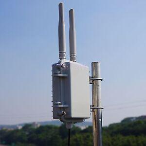 WiFi Outdoor AP range extender Nano Aluminum shell 2.4G 300M PoE 2*5dBi antenna