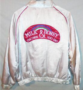 -Rare- Vintage -John Lennon- Milk & Honey Roadie Mens XL Satin Promo Coat/Jacket