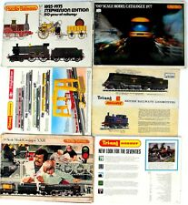 """Job Lot 6x Tri-ang HORNBY """"00"""" CATALOGUES  7th 15th 16th 21st 22nd 23rd Editions"""