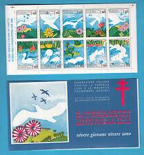 1982 CARNET IPZS FED. ITALIANA CONTRO TUBERCOLOSI 45 CAMPAGNA 10 CHIUDILETTERA