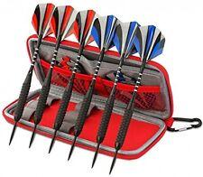 6 Darts Steel Tip Set with Aluminium Shafts Dartboard Games Premium Darts Case