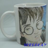 Harry Potter Sorcerer's Stone Coffee Cup Mug Ron Hermione 2000 Collectible