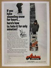 1976 Ariens SNO-THRO Snow Thrower man blowing snow photo vintage print Ad