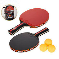 Amaza Table Tennis set with Carry Bag - 2 Bats + 3 Ping Pong Red