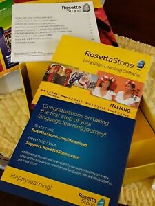 Rosetta Stone Italian Language Learning Software slightly used with software