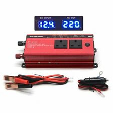Car 3000W/1500W Power Inverter DC 12V to AC 220V Converter Invertor Electronic