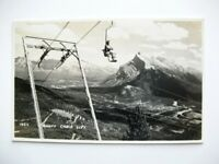 Banff Canada Byron Harmon Woman On Ski Chairlift Photo Postcard - Unused