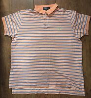 BOYS SIZE XL RALPH LAUREN ORANGE/BLUE POLO TOP SUMMER/SPORT/HOLIDAYS/GYM RRP £75