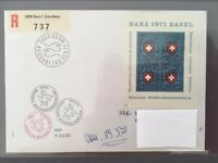 SWITZERLAND FDC 11.3.1971 HELVETIA NABA Basel National Stamps Exposition