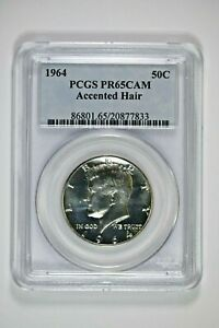 1964 PCGS PR65CAM Accented Hair Kennedy Half - Great Kennedy Variety!!!