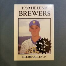1989 Sports Pro HELENA Brewers #9 BILL BRAKELEY New Canaan CONNECTICUT