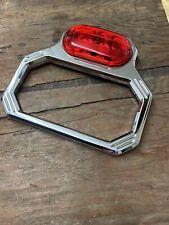 💥 Custom Chrome Billet Motorcycle License Plate Frame Trim 💥 LED Light