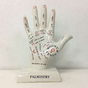 Dynamo House Palmistry Hand Statue White Australia #914