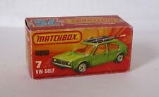 Repro box MATCHBOX superfast Nº 7 vw golf