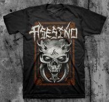 ASESINO 'Demon Skull' T shirt (BRUJERIA, TRANSMETAL, CARCASS )