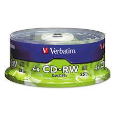 Verbatim CD-RW Discs 700MB/80min 4X Spindle Matte Silver 25/Pack 95169