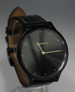 Garmin Vivomove HR Premium Onyx Black with Black Leather Band