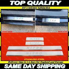 Chrome seuil de 4 porte ACIER INOXYDABLE Dodge NITRO 2006+