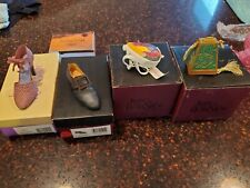 Just The Right Shoe and purse-Set of 4 - all mint in Boxes Raines- large lot #3