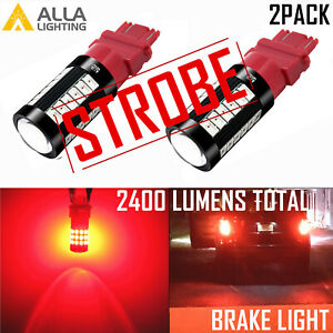 LED 4-TIME STROBE Brake/RED Tail Light Bulb Replace For 2010-2020 Toyota Tundra