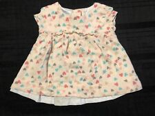Little Wonders Girl Heart Printed Dress Size Newborn