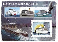 1971 MS Princesa del Pacífico (el forro de crucero barco Amor) Hoja de sellos de la nave (2008)
