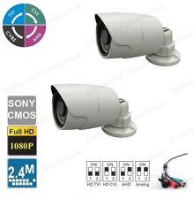 2PCS 2.4MP 1080P 4-IN-1 Bullet Camera 2.8mm Lens 18IR SONY CMOS Outdoor IP66
