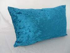 Sumptious Turquoise Aqua Crushed Velvet Oblong Rectangle Cushion Cover 30x50cm