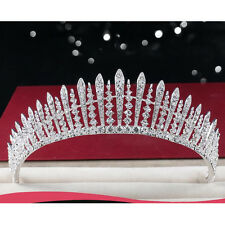 Twinkling Tiara Diadem Wedding Bride Crown Clear Rhinestones Prom Pageant Party