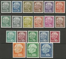 SAAR. 1957 Redrawn President Heuss Definitive Set. SG: 405/25. Mint Never Hinged