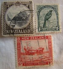 New Zealand Stamp Set 1936 Scott 209 211 214