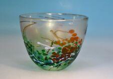 Irisierende Vase Phoenician Glass Malta, Label, Signatur. dat. 92